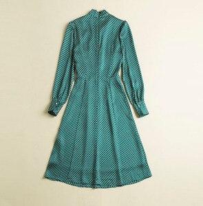 Image 3 - プリンセスケイトミドルトンのドレス 2019 女性のドレス春の弓ネック長袖水玉エレガントなドレス作業服 NP0233J