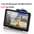 7 polegada HD suport carro navegador gps navigation system 800 MHZ tela de toque fm, mp3, video player,. wince6.0 com bluetooth av in