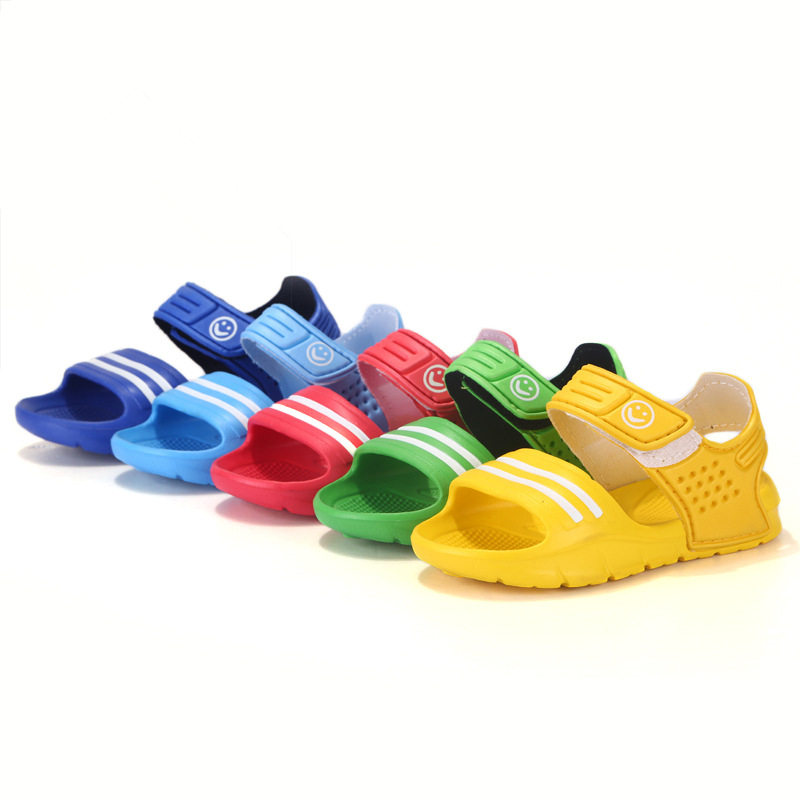 2017 Elsa Sko Gummi Real New Plain Ankel Rem Unisex Children Sandals Slip-resistant Slidstærk Small Boy Casual Child