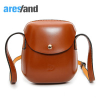 Aresland PU Leather Round Shoulder Bag Cute Small Women Bag For Phone Change Wallet Lovely Design