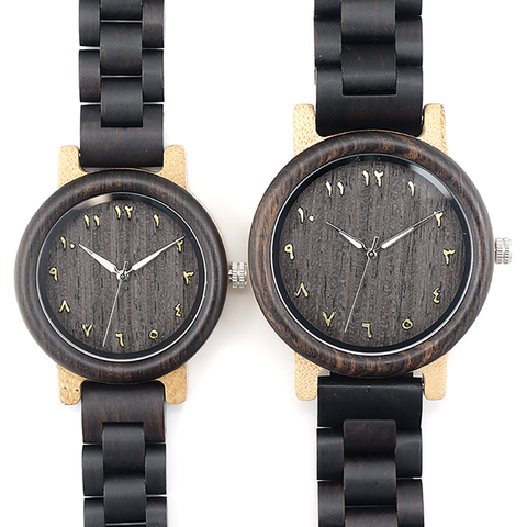 BOBO BIRD L-N14 Couple Wooden Watches 100% Natural Wood Watches Men Women Clock Christmas Gift in Case Islamabad