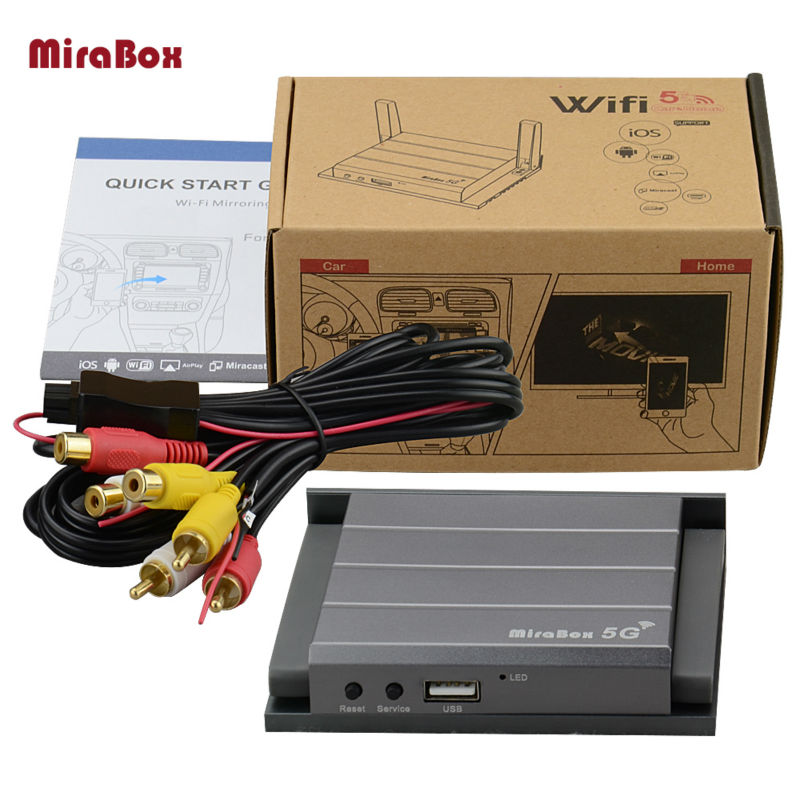 Mirabox Car WiFi Mirrorlink Box A V HDMI RCA CVBS Support Built in Navigation With Android