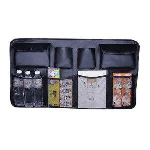 Image 2 - עור רכב מושב אחורי ארגונית אוניברסלי ספרים מים בקבוקי מטריית אחורי מושבים כיסי תא מטען אחסון תיק אוטומטי אבזרים