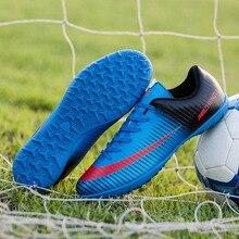 ba20d13709 2018 Большие размеры 35-44 мужские FG футбольные бутсы Открытый TF жесткий  Суд кроссовки новый дизайн унисекс Origina с шипами ф.