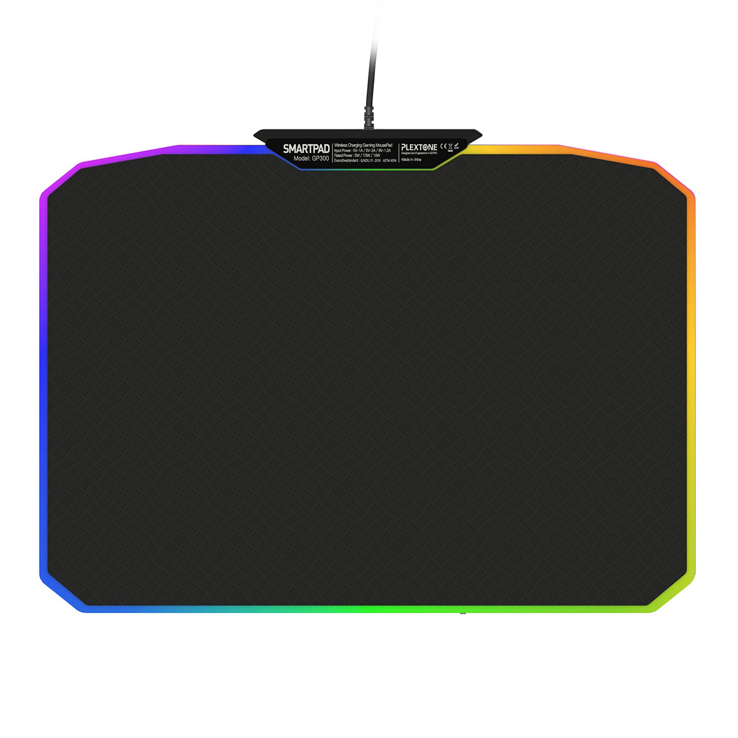 Plextone Gp300 Wireless Fast Charging Mouse Pad Mat 11 Kinds Of Colorful  Rgb Gaming Mouse Pad For Computer
