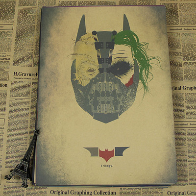 Batman vintage poster bar home decoration in Painting Calligraphy from Home Garden