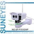 SunEyes SP-P701EWP Inalámbrica Al Aire Libre Cámara IP Pan Rotación por el Software onvif 720 p hd con ranura sd micro matriz ir noche visión