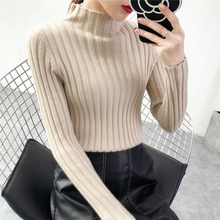 Half turtleneck female thick long sleeved jacket sweater slim all-match