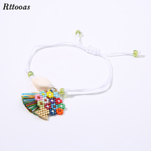 Rttooas MIYUKI Beads Tree of Life Accessories Friendship Anklets Women Summer Beach Shell Anklets Gift pair of graceful floral circle anklets for women