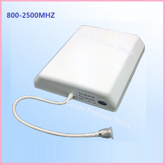 Free Shipping 2pcs/lot 800-2500mhz GSM indoor panel antenna for 3G DCS CDMA cell phone signal repeater/booster indoor antenna