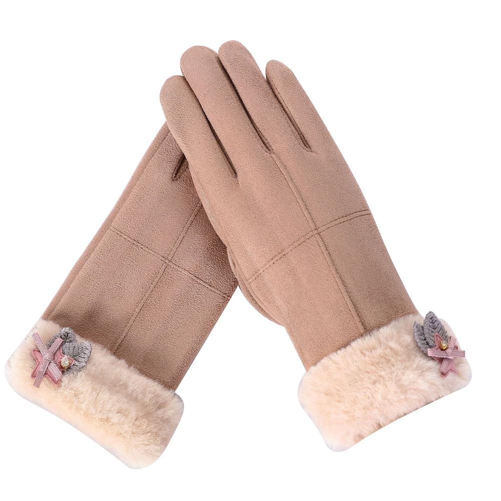 Back To Search Resultsapparel Accessories Miss M Womens Winter Outdoor Gloves Fashion Suede Fabric Warm Touch Screen Gloves Casual Solid Color Pink Gloves For Women Men Clear-Cut Texture