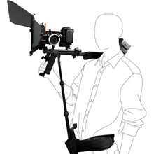 DSLR Rig destek çubuk/kayış omuz takoz desteği Video kamera kamera DV/DSLR yeni