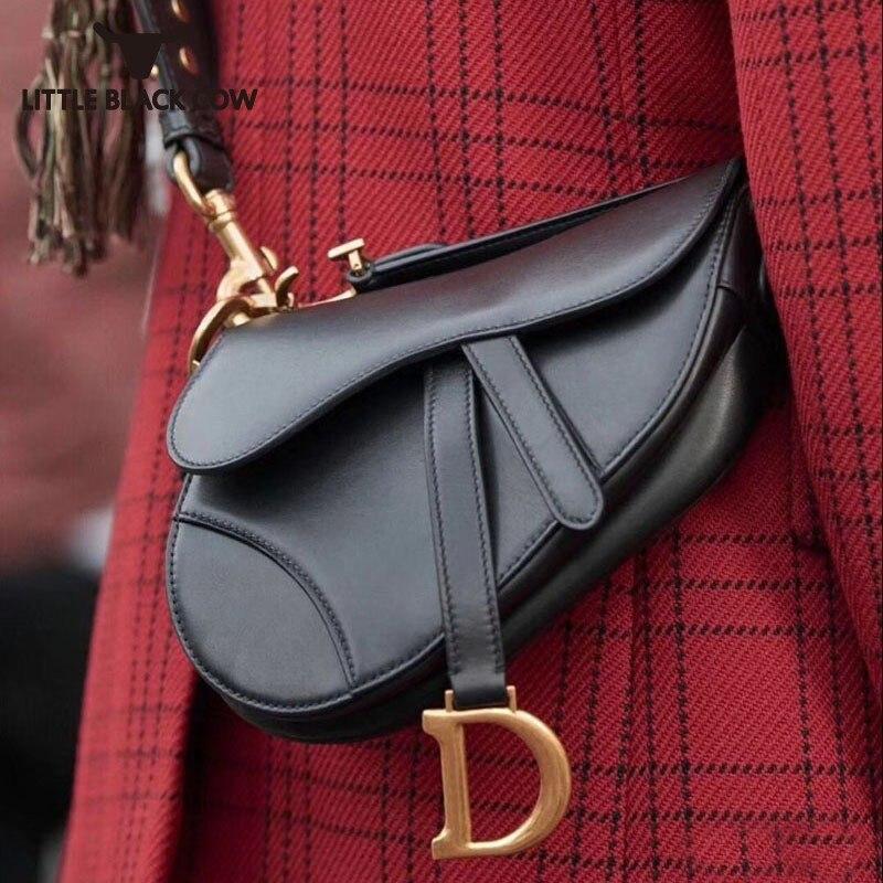 Lettre selle sac femme luxe sacs à main femmes sacs Designer mode véritable vache cuir épaule bandoulière sacs Top qualité