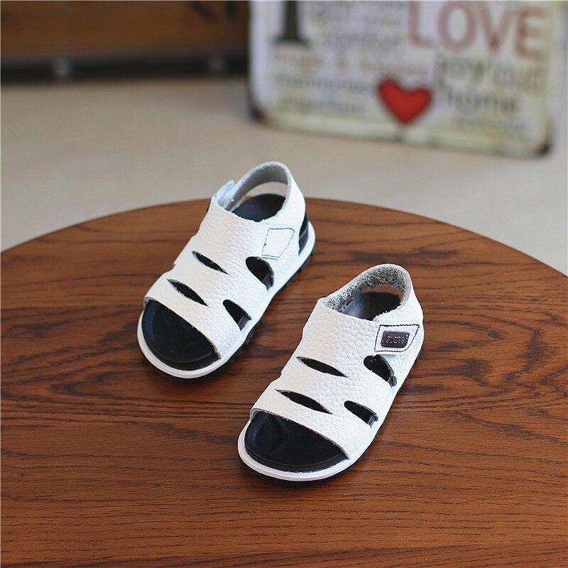 2018 Summer New Baby Sandals Boys Girls Soft Bottom Genuine Leather Sandals For Little Kids Beach Sandal childrens Shoes