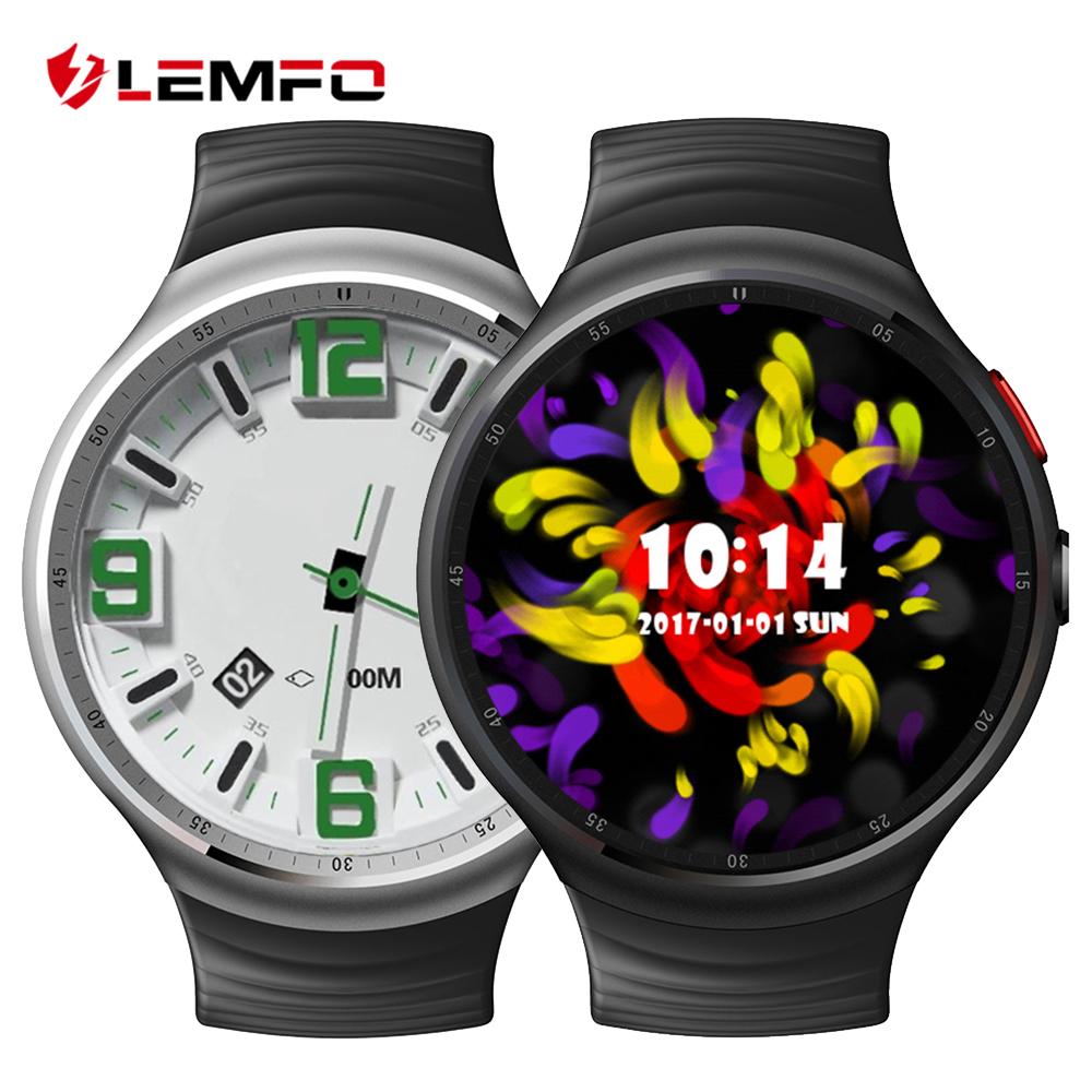 Prix pour LEMFO Bluetooth Smart Watch RAM 1 GB + 16 GB Pour Android IOS Téléphone Météo de Soutien Moniteur de Fréquence Cardiaque