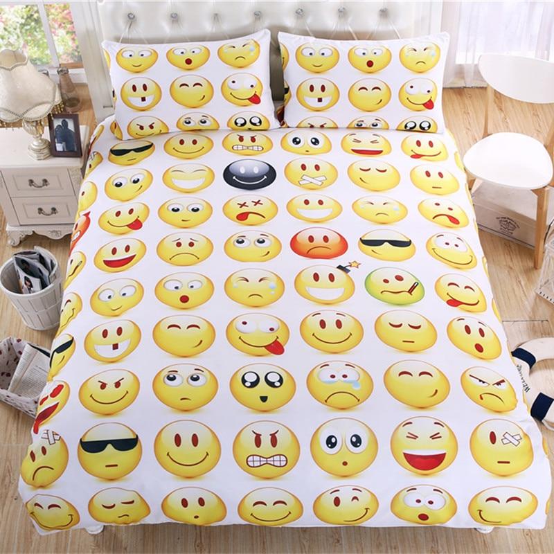 Bedding Set Best for Girls 100/% Polyester Microfiber Twin Size Emoji Pack of 4