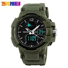 Moda Al Aire Libre Muchacho de Los Hombres Relojes Deportivos Militar SKMEI Marca LED Digital de Cuarzo Multifunción Impermeable Reloj de Pulsera de Vestir
