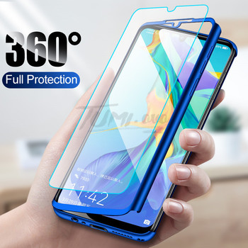 360 Full Protective Phone Case for Huawei Y5 Y6 Y7 Y9 Prime 2019 P Smart Pluz Z P30 P20 Lite Pro Nova 2i 3 3i 4 Cover with Glass 2