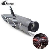 Universal Modified Motorcycle Exhaust Muffler Pipe For YAMAHA R1 R6 R15 FZ1 TOCE Slip On Racing Escape Moto Silencer YA013