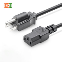 US 2.5m  Power Cord 2 Pin Round AC US Plug 1.5mm2 Thick Server Power Cable/Lead/Cord For  UPS/PDU Server
