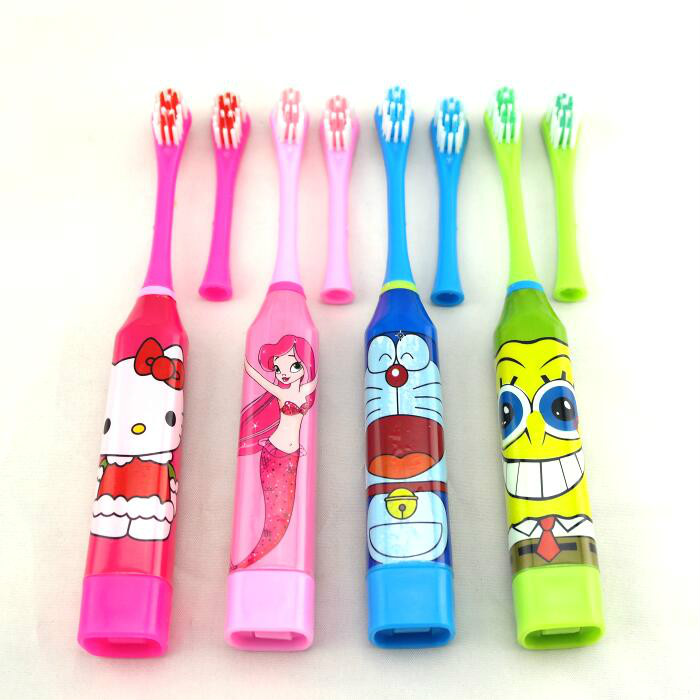 Hot Sale Children Electric Toothbrush Cartoon Pattern Teeth Whitening Children Tooth Brush Battery Powered Pro Dental Equipment electric toothbrush rechargeable teeth whitening tooth brush adults childfren battery powered dental equipment