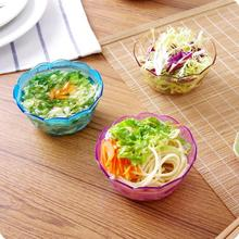 Japan Style Plastic Salad Bowl Colorful Transparent Fruit Snack Bowl 4 Pieces/Lot Small Crystal Salad Bowl