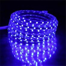 SMD 5050 LED Strip light AC220V 60leds/m Waterproof IP67 Flexible Tape LED Light With EU Power Plug 1M/2M/3M/4M/5M/10M/15M/20M dc12v white pcb uv led strip light 5050 smd 60leds m 1m 2m 3m 4m 5m ultraviolet ray purple flexible led tape ribbon lamp