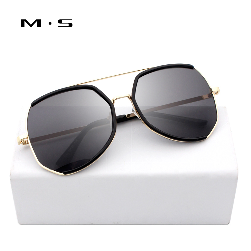 MS Vintage Sun glasses for Women Square Sunglasses Women Mirrored Glasses Classic Fashion Female Alloy Legs Oculos UV400