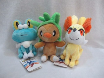 3 Styles XY Series Chespin Fennekin Froakie Soft Plush Toy Dolls Stuffed Animals Kids Gift image