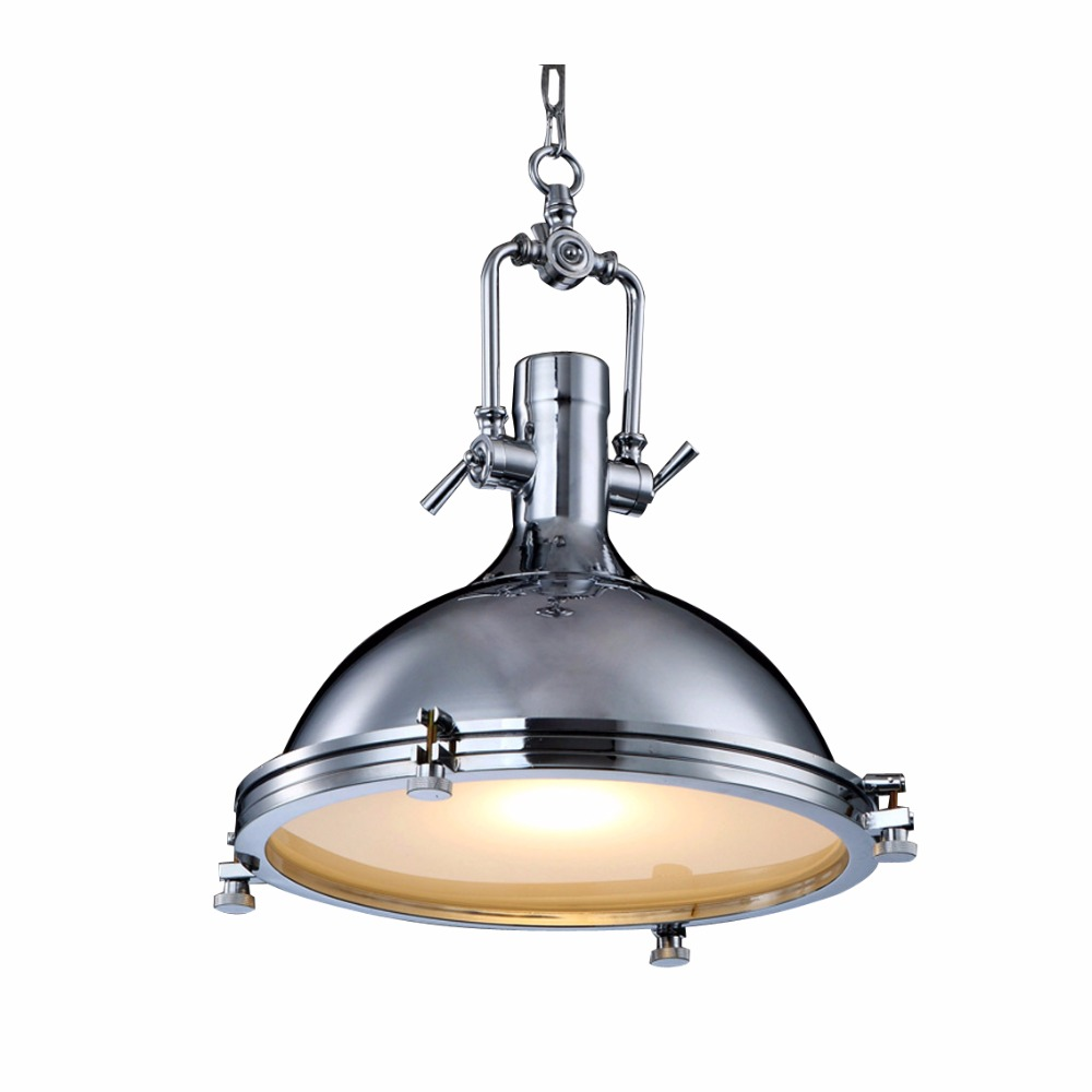 Modern Retro Industrial Loft Pendant Light Vincent Chrome Country Rustic Pendant Lamp Fixture Lighting E27 For