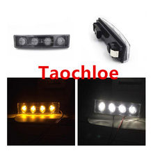 2 Buah 24 V Putih Amber Kuning LED Sisi Marker untuk Scania Sisi Marker Lampu Truk Lampu LED Warning Light Trailer bus Cahaya Truk(China)