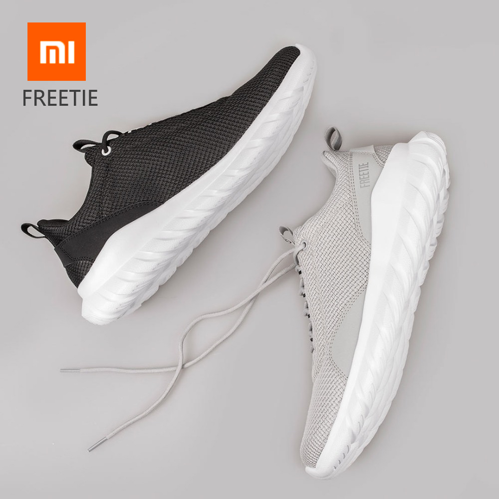 Original Xiaomi FREETIE 39-44 Plus Size Men's Sports Shoes Light Breathable Knitting City Running Sneaker For Outdoor Sports