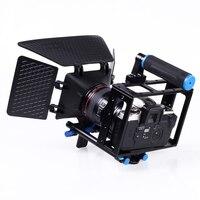 Видео Клетки для камеры установка с ручка + Matte Box для DSLR видеокамера 5D Mark II