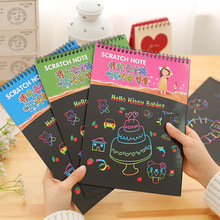 YL815 large hand-painted painting  notebook DIY scratch coating scraping painting