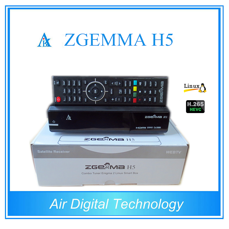 Best Offer for 10pcs/lot ZGEMMA H5 Enigma 2 Linux Combo DVB-S2 + DVB-T2/C tuner Digital tv Receiver with HEVC H.265 10pcs zgemma star i55 support satip iptv box bcm7362 dual core mainchipset 2000 dmips cpu linux enigma 2 hdmi connection