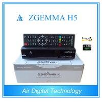 Best Offer for 10pcs/lot ZGEMMA H5 Enigma 2 Linux Combo DVB-S2 + DVB-T2/C tuner Digital tv Receiver with HEVC H.265