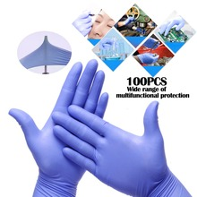 Pink/Blue Disposable Gloves Latex For Home Cleaning Disposable Food Gloves Cleaning Gloves XS/S/M/L/XL Anti-slip Acid/Alkali kopilova blue disposable gloves in nitrile anti slip antistatic household gloves for finger protection free shipping