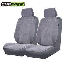 Auto-pass di Velluto A Coste Coperture Per Sedili Auto Universal Car Interior Accessori Nero Grigio Beige Copertura di Sede Dell'automobile
