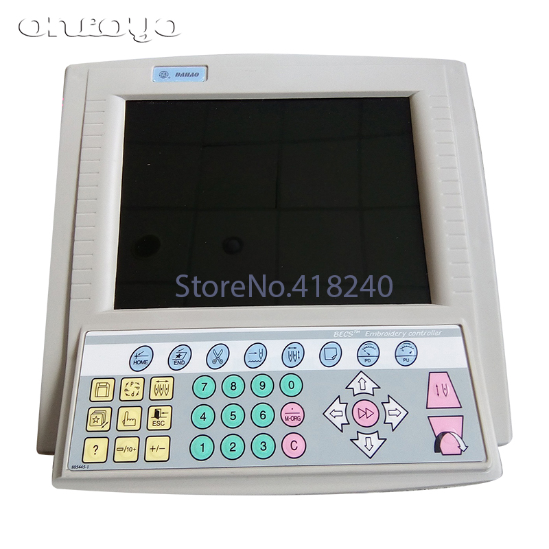 Computer Embroidery Machine Accessories 18 Operating Heads True Color Operating Head 10 Inch Screen