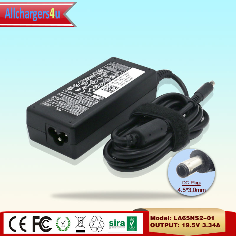 100% Original PA-12 LA65NS2-01 19.5V 3.34A 65W AC Adapter Charger For Dell Inspiron 13 7347 Convertible 11 3000 Series