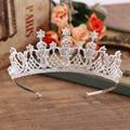 Hot European projects Crystal Peacock Tiara Crown Wedding Bridal Tiara Rhinestone Accessories Tiaras Pageant Crowns