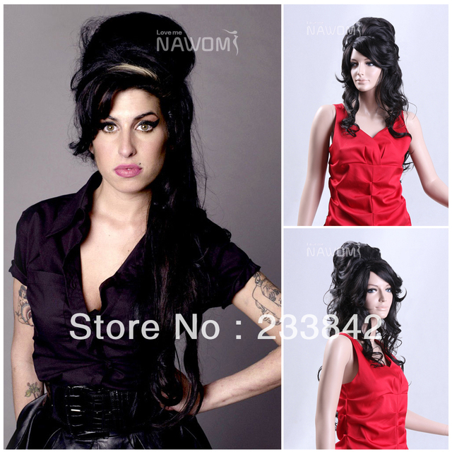 Amy Winehouse Parody Ladies Black Wigs Halloween Costume Rehab Funny Beehive 60u0027s Fancy Dress Party Wigs  sc 1 st  AliExpress.com & Amy Winehouse Parody Ladies Black Wigs Halloween Costume Rehab Funny ...
