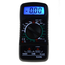 цена на XL830L Portable Digital Multimeter Backlight AC / DC Ammeter Voltmeter Ohm Test Instrument Handheld LCD Electrician Professional