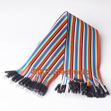 30cm 40pcs in Row Dupont Cable line Jumper Connector 2.54mm 1pin 1p-1p Female to Male jumper wire for Arduino