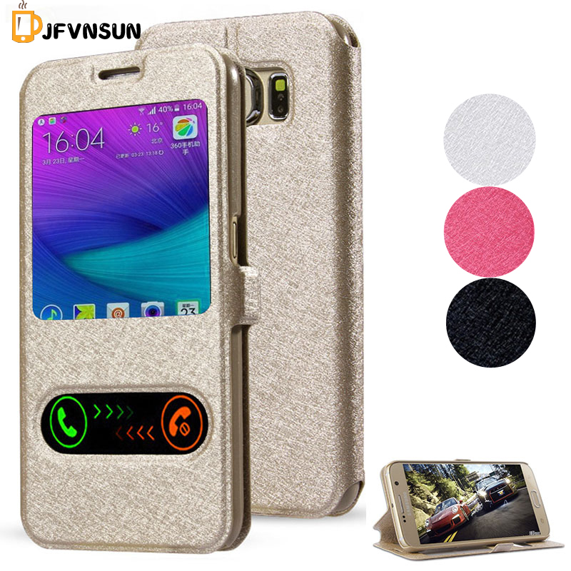 For Samsung Galaxy S5 S4 S3 S6 S7 edge NEW Window View Leather Flip Cover Case Note 3 4 5 Win Alpha Grand Prime i9082 G7106 G360