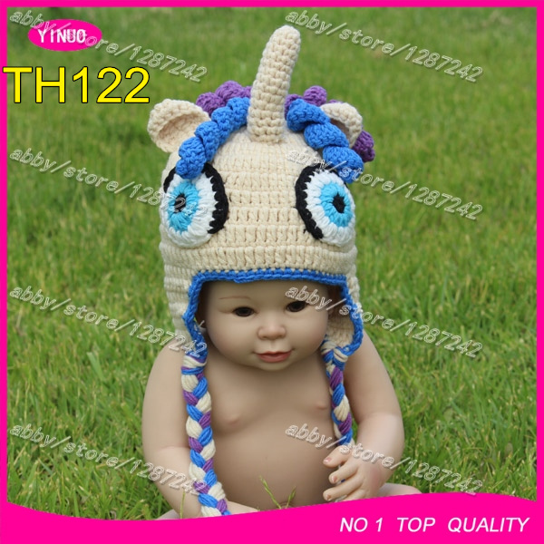 New arrival hand crocheted baby ponytail beanie hat animal hat ...
