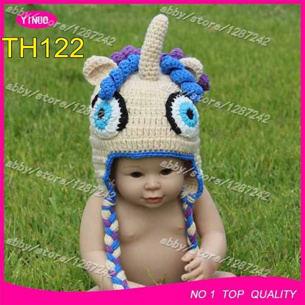 New Arrival Hand Crocheted Baby Ponytail Beanie Hat Animal Hat Extraordinary Ponytail Beanie Crochet Pattern