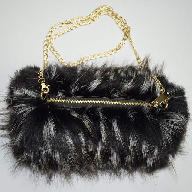 863aec00d US $34.38 |Winter Hand muff Faux Fur Bag Muff Woman Handmuff With Bag Hand  Warmer MS.MinShu Brand Winter Mittens Fashion-in Women's Gloves from ...
