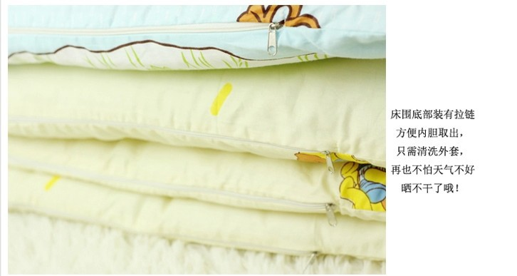 Promotion! 6pcs Baby bedding cribs for babies cot bumper kit bed around piece (bumpers+sheet+pillow cover)