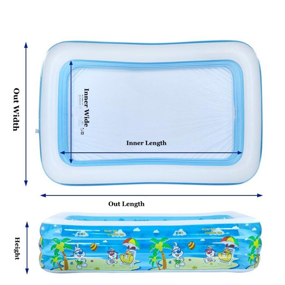 2017 piscine gonflable pour bébés et enfants grandes piscines familiales piscine à balles océan baignoire adulte épaissie - 6